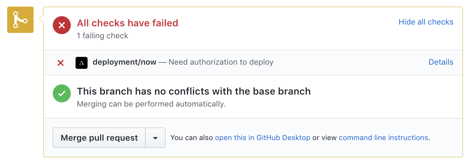 Deploying Pull Requests from Forks with Now + GitHub - ZEIT