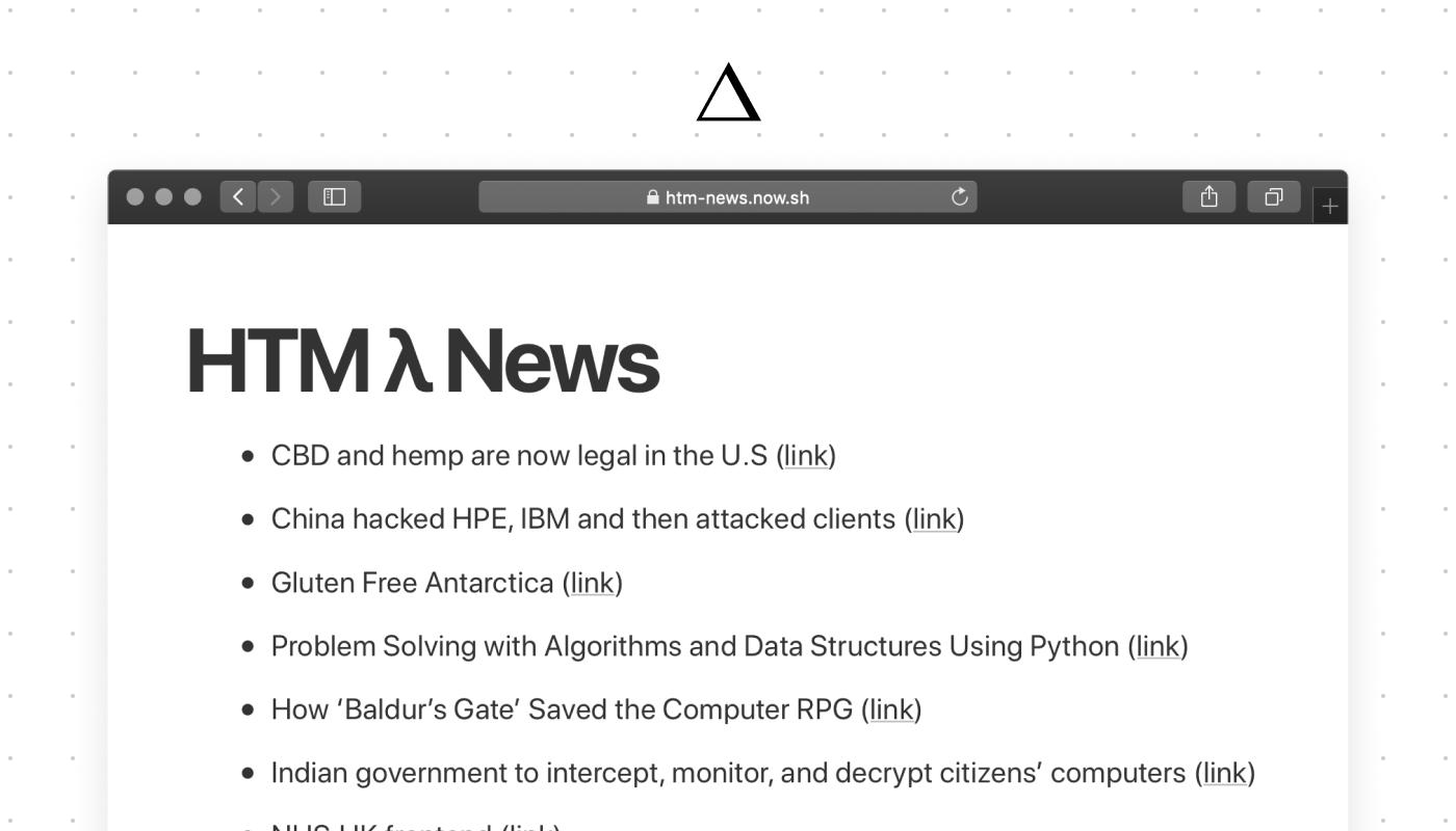 Seamless Serverless Markup with HTM - ZEIT