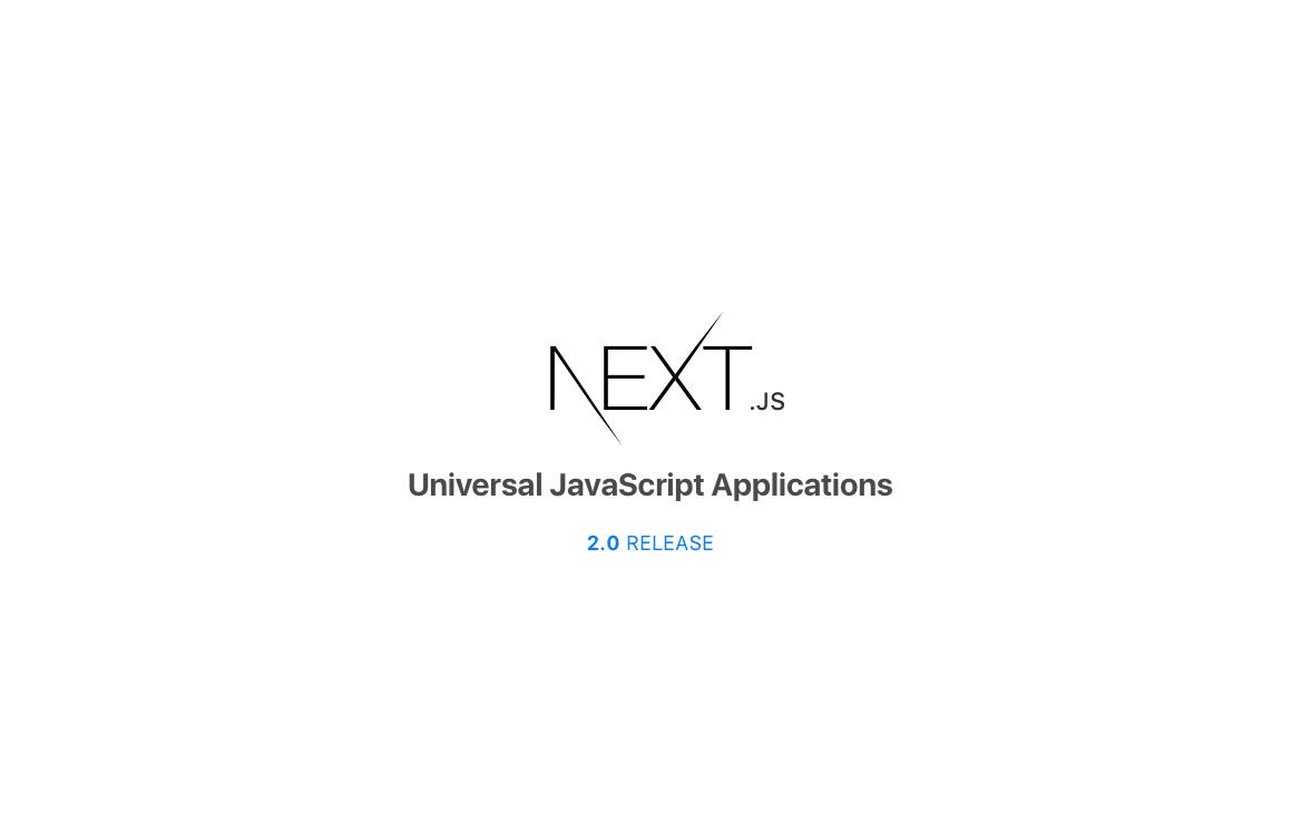 Next js 2 0